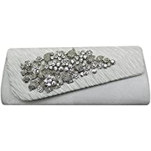 HotStyleZone Gorgeous lady de diamante velada fiesta Prom embrague bolsas flores broche 15 colores