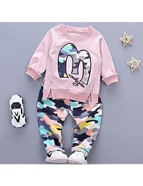zooarts 0–4años bebés niños niñas manga larga sudadera Tops + pantalones disfraz ropa de invierno Set, mezcla...
