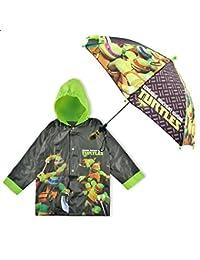 Nickelodeon Little Boys' Tmnt Slicker and Umbrella Set