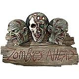 Diseño Toscano Zombie Ahead con placa de bienvenida