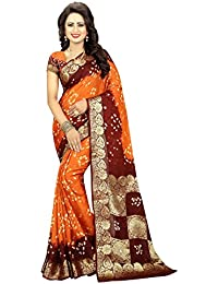 Shree Sondarya Bandhani Women's Art Silk Saree With Blouse Piece (Ssb-S3196-01_Multicolor)