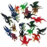 """Toy Essentials Plastic Fire Breathing Mini Dragons (2.5"""" - 3"""") - 20 Pieces"""