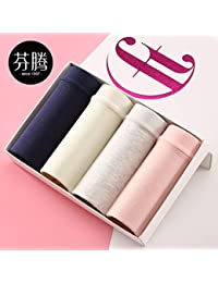 WXNLEAI Fenteng ropa interior algodón algodón tela sexy cintura sin rastro estudiantes japoneses frescos de color