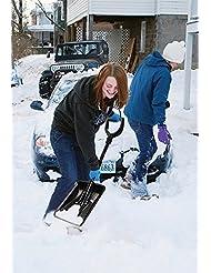 Bid Buy Direct® pala de nieve grande telescópica de aluminio | desmontable | montar. | ligero & compacto | resistente | fácil de guardar en para el maletero del coche