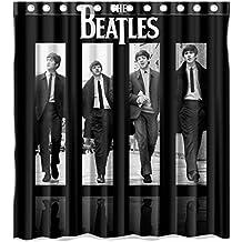 Custom Rock Band des Beatles Rideau de douche imperméable rideau de douche en tissu de Polyester-Dimensions :  168 X 183 cm