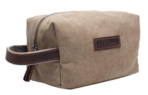 IBLUE ,  Herren Damen Unisex-Erwachsene Kulturtasche Grau Khaki m (Bag Makeup Coach)