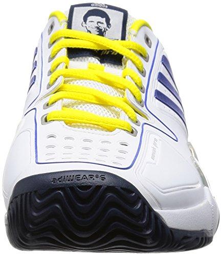 adidas Novak Pro, Chaussures de Sport Homme Multicolore - Blanco / Azul / Amarillo (Ftwbla / Reauni / Amabri)