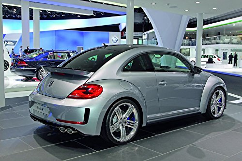 Volkswagen Beetle (36x24 inch / 90x60 cm) Silk Print Poster Seide Plakat - Silk Printing - 1D6BEF