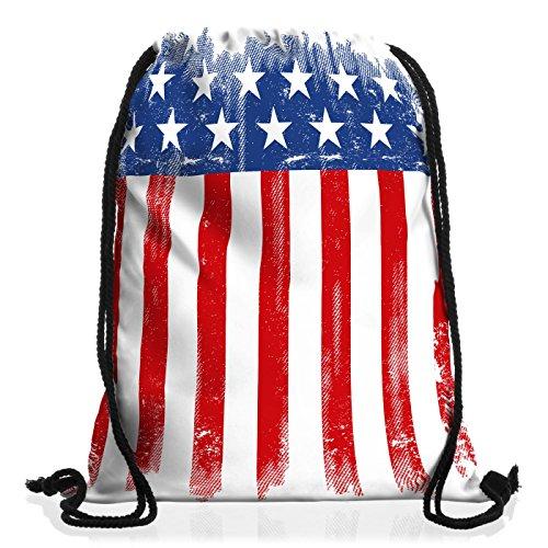 style3 USA Flagge Rucksack Tasche Turnbeutel Sport Jute Beutel Banner vereinigte Staaten von Amerika us Stars Stripes -