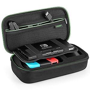 UGREEN Tasche für Nintendo Switch Zubehör Tasche stoßfest Zubehör Case Tragetasche Hülle Schutz Tasche unterstützt für Nintendo Switch Konsole, 10 Spiele und anderes Zubehör