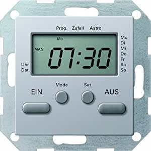 GIRA 0385203 Horloge programmable électronique 230 V~0 - 1000 W/VA E22 Aluminium