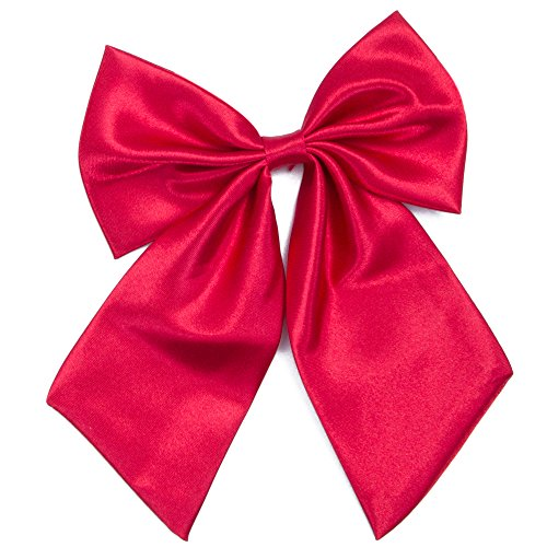 Schleife Kostüm Rote - Damen Fliege Schleife Binder Schlips - 28~49 cm Länge Verstellbare Bowknot Krawatten (Weinrot)