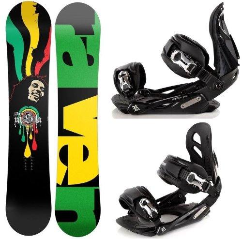Snowboard Set: Snowboard Raven Rasta Carbon Rocker + Bindung Raven s250 Black M/L