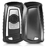 kwmobile Hülle für BMW 3-Tasten Funk Autoschlüssel (Nur Keyless Go) - TPU Schlüssel Schutzhülle in Schwarz Matt - Etui Schlüsselhülle Cover Auto Zündschlüssel