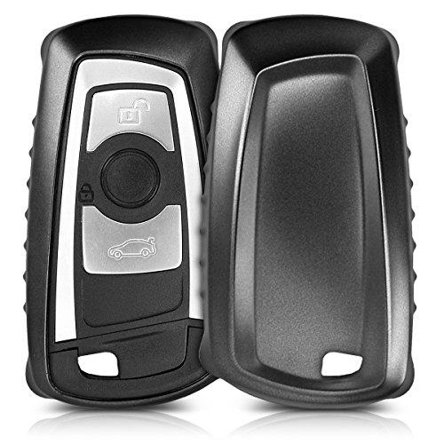 kwmobile Autoschlüssel Hülle für BMW - TPU Schutzhülle Schlüsselhülle Cover für BMW 3-Tasten Funk Autoschlüssel (nur Keyless Go) Schwarz matt