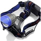 ZQ 3* XM-L T6LED 6000lúmenes super brillante linterna frontal faro para bicicleta luz 6000Lms–Genwiss, azul, blue-6000 lumens