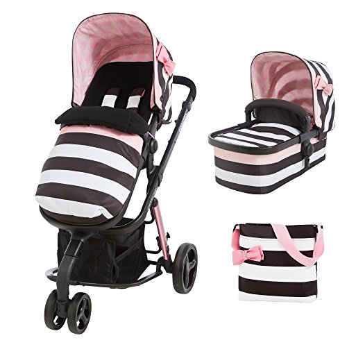Cosatto Giggle 2 Pram and Pushchair 3 in 1 (from Birth Carrycot, Pushchair, Footmuff and Change Bag), Golightly3  Cosatto