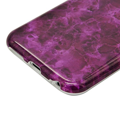 iPhone 7 Plus Marmor Hülle,iPhone 7 Plus Marble Case,Sunroyal Kreative Stylish Schickes Retro Elegant Schön Rosa Pattern Silikon Handyhülle Weiß Stein Glamour Ultradünn Marble Malerei Muster Schlank T Pattern 05