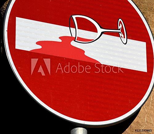 druck-shop24 Wunschmotiv: Verkehrszeichen: Verbot der Einfahrt #221593465 - Bild als Foto-Poster - 3:2-60 x 40 cm / 40 x 60 cm