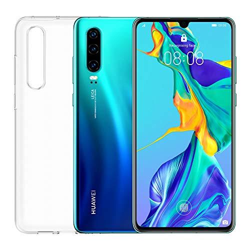 """Smartphone Huawei P30 (Aurora) + Capa Transparente, 6GB RAM, Memória 128 GB, Ecrã 6.1 """"FHD +, Processador Kirin 980, Câmara Traseira Traseira 40 + 16 + 8MP, Câmara Frontal 32 MP [Itália]"""