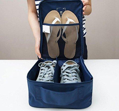 Travel Reise Große Schuhtasche Tasche Mit Großer Kapazität Tragbares Outdoor-Schuhe Eintritt Paket,Blue1 Blue2