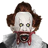 Supmaker Killer Clown Maske, Scary Clown Maske Halloween Party Maskerade Adult Zubehör für Custume Cosplay