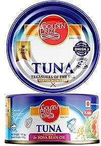 Golden Prize Tuna Flakes in SOYA Bean Oil, 185g