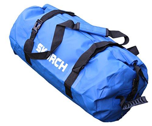 Bag, wasserdicht, mit bequeme schwarz gepolsterte Schultergurte Strand, Kajak, Paddle Board, Camping, Segeln und Skifahren. (blau, wasserdicht Duffel Bag 30x 58cm) (Elmo-mädchen-kleidung)