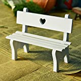 Slivercolor Mini Resin Bench Miniatur Garden Patio Furniture Parkbank Micro Landschaft Dekoration Garten DIY Dekor (13.5*13*5.5CM)