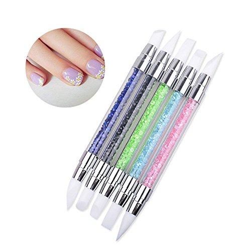 5 pinceles de silicona ultra suaves para uñas