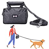 PEDOMUS Hundeleine Tasche für Hundeleine, Multifunktional, mit Hundeleine, mit Tragetasche für Hundekotbeutel oder Leckerli-Tasche (grau)