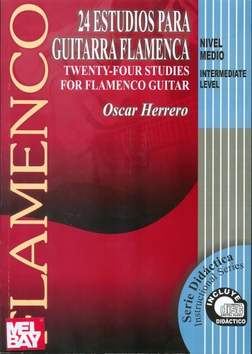 24 Estudios para guitarra flamenca / 24 Studies For Flamenco Guitar: Twenty-four Studies for Flamenco Guitar: Nivel Medio / Intermediate Level (Serie Didactica) por Oscar Herrero