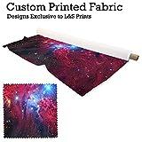 Galaxy 12Design Digital Print Stoff Microfaser Peachy