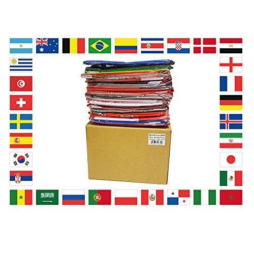 AZ FLAG KIT 32 FLAGGEN FUßBALL-Weltmeisterschaft 2018 Russland 90x60cm - Pack World Cup Football Russia Fahne 60 x 90 cm - flaggen Top Qualität -