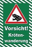 Schild 45x30cm Vorsicht Krötenwanderung - 3mm Aluverbund - 20 Varianten