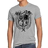 style3 Skywalker Wappen Herren T-Shirt Luke leia, Größe:L;Farbe:Grau meliert