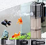 Fish Tank Filter 3-in-1 Aquarium Tauchpumpe Wasserpumpe für Fischtank