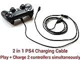 Cable de Charge pour PS4 3 m, 2 en 1