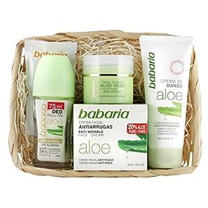 Babaria Crema Facial Antiarrugas 20% Aloe Vera de Manos y Desodorante Roll-On – 225 ml