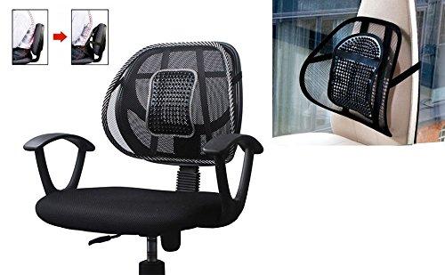 Takestop® schienale ergonomico schiena supporto lombare coprisedile confortevole per auto camper sedie ufficio poltrona