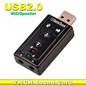 Scheda audio USB altoparlante USB 7.1 audio USB adattatore scheda audio esterna