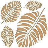 Todo Stencil - Stencil decorativo da parete, con motivo foglie, mod. 107, dimensioni dello stencil: 20x 20cm, dimensioni del disegno: 18x 18cm
