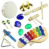 Musikinstrumente Beste Deals - Tera® Glockenspiel-Set Schlaginstrumente Kinder pädagogisches Spielzeug, ideal Geschenk für Kinder
