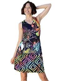 1bb60799c Massana vestido estampado sin mangas L187267 - MARINO