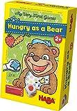 HABA 300171 - Meine ersten Spiele – Bärenhunger | Lustige Spielesammlung für 1-3 Spieler ab 2 Jahren | Mit süßem Bären-Aufsteller zum Füttern