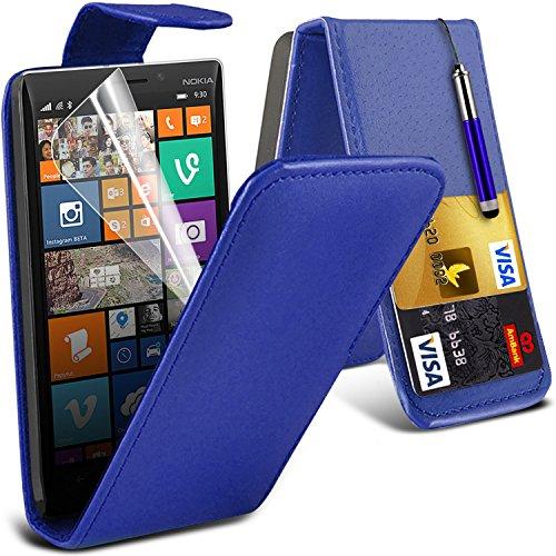 ( Blue ) Nokia Lumia 930 Tough Survivor Fest Rugged Shock Proof Heavy Duty Case W / Back-Stand, LCD-Display Schutzfolie, Poliertuch und Mini-versenkbaren Stift durch Spyrox Flip (Blau)