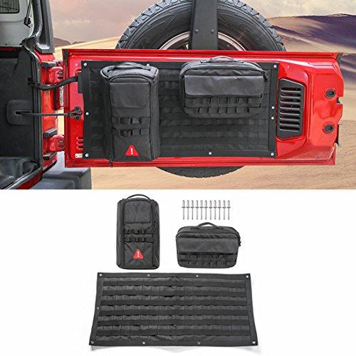 Preisvergleich Produktbild LITTOU Car Interior Heckklappe Aufbewahrungstasche & Tool Kit Cargo Organizer Tasche Satteltasche Fit Für Wrangler Car Styling (Schwarz)