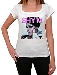 Shy'm, tee shirt femme, imprimé célébrité,Blanc, t shirt femme,cadeau