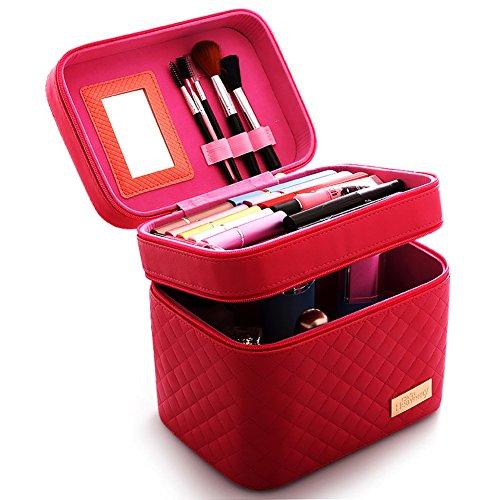 Boîte de rangement cosmétique sac cosmétique cosmétiques plein air voyage mode] bain organisateur de maquillage maquillage stockage de brosse de maquillage cadeau de petite amie surprise garçons pour les filles porte-rouge à lèvres sac portable] imperméable] femme-J