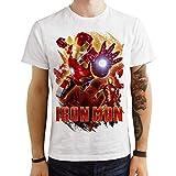 VeraPrint T-Shirt Maglia Avengers Ironman - Uomo Donna Unisex - Bianca (9/11 Anni)